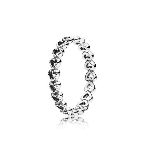 54 / Openwork heart silver ring