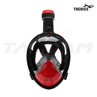 [TheNice] 스노클링 풀페이스 마스크 Premium BlackRed L-XL